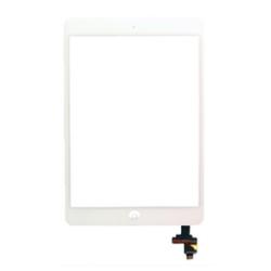 Touch screen con tastino interno e biadesivo Bianco (A) iPad Mini