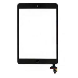 Touch screen con tastino interno e biadesivo Nero (A) iPad Mini