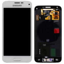 LCD + touch screen + copritasto home con cornice anteriore di colore bianco