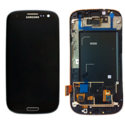 LCD + touch screen + copritasto home con cornice anteriore di colore nero