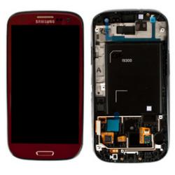 LCD + touch screen + copritasto home con cornice anteriore di colore rosso