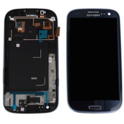 LCD + touch screen + copritasto home con cornice anteriore di colore blu