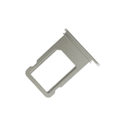 Carrellino porta SIM di colore silver per telefono bianco