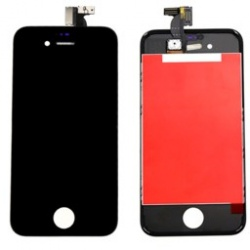 Display completo di touch Nero (A+) compresa retina altoparlante iPhone 4